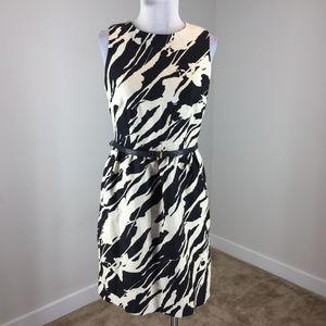 Michael Kors S 4 Beige Black Linen Sheath dress